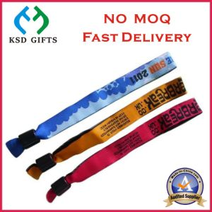 Printing on Your Logo Fabric Cheap Wrist Bands with Clip pictures & photos