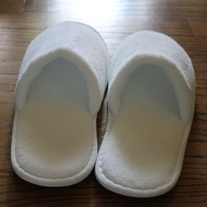 Hotel Collection Amenity Disposable Velour Open-Toe Slippers pictures & photos