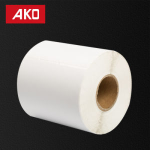 OEM Semi Glossy Coated Paper Glassine Liner Self Adhesive Sticker Label pictures & photos