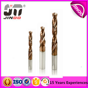 High Performance Tungsten Carbide Coolant Hole 2 Flute Metal Drilling Bits pictures & photos