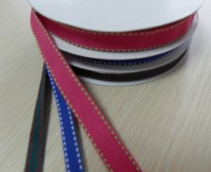 Wholesale Stitch Ribbon, Satin Ribbon with Stitch, Grossgrain Ribbon with Stitch