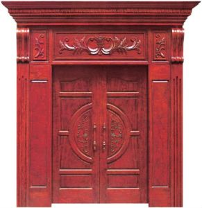 High Quality Decorative Solid Wooden Door pictures & photos