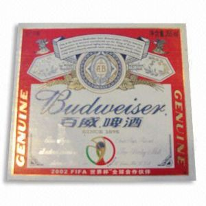 71GSM Metallized Beer Label Paper with Linen Embossed pictures & photos