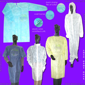 Nonwoven Hospital/Doctor/Patient/Nurse/Visitor/Surgeon/Surgery Coat pictures & photos