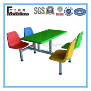 Fiberglass Dining Table and Chair Cheap Restaurant Equipment for Sale Fast Food Table Chair pictures & photos