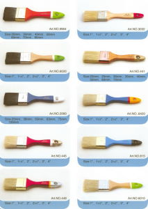 Bristle Paint Brush (PAINTBRUSH PURE BRISTLE, FLAT BRUSH) pictures & photos