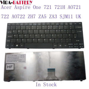 Laptop Computer Keyboard for Acer Aspire One 721 721h Ao721 722 Ao722 Zh7 Za5 Za3 Sjm11 UK pictures & photos