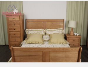 Solid Oak Wooden Bed, Solid Oak Furnitures
