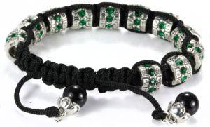 Silver Charm Bead Bracelet Ve46