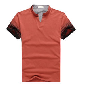 New Style Contrast Color Man Polo Shirt pictures & photos