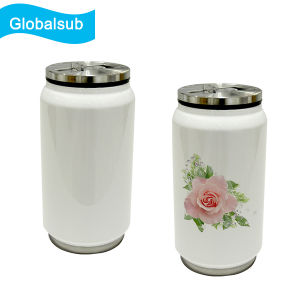 Sublimated Blank Travel Soda Can Mug with Lids pictures & photos