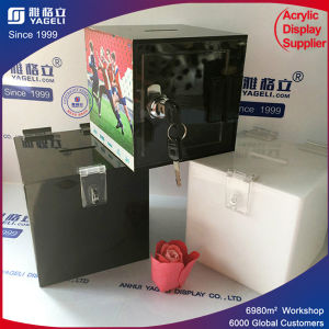 Modern Stylish Floor Standing Acrylic Donation Box pictures & photos