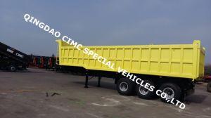 Cimc 40cbm 3 Axle Dump Tipper Semi Truck Trailer Chassis pictures & photos