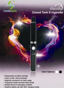 Cloudy Closed Tank E-Cigarette with Magnetic Connection pictures & photos