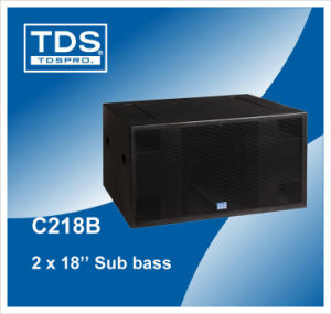 Dual 18inch Subwoofer Speaker C218B pictures & photos