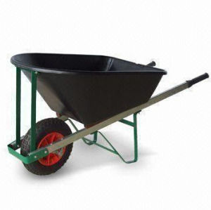 Wheel Barrows with Wooden Handle