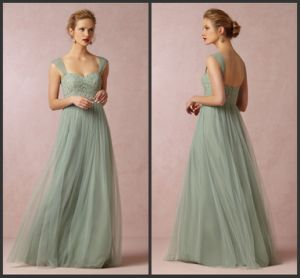 Lace Bridesmaid Party Prom Gown Green Mother Evening Dress E1314 pictures & photos