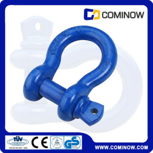 G209 Us Type Drop Forged Screw Pin Anchor Bow Shackle / Blue Heavy Duty Shackle pictures & photos