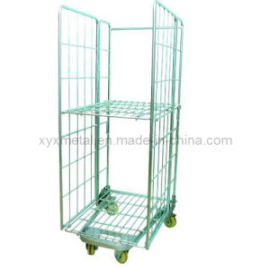 Folding Welded Wire Mesh Roll Cage Pallet Rollcontainer pictures & photos