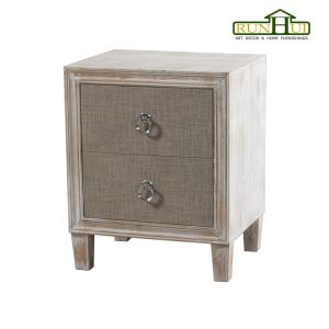 2 Drawers Whitewash Wooden Furniture Nightstand pictures & photos