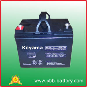 Good Quality 12V33ah Lighting Battery UPS Battery Emergency Light Battery pictures & photos
