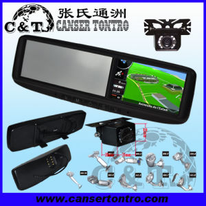 "4.3"" Car Rear View Mirror GPS LCD Monitor With Camera Kit (RVGSMDB)"
