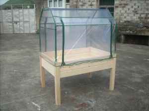 Wooden Planter with Film Cover Greenhouses