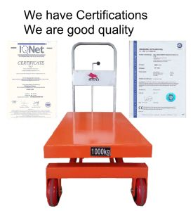 Lift Table with CE and ISO Certification pictures & photos