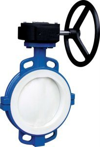Full Lined PTFE Butterfly Valve with Split Body pictures & photos