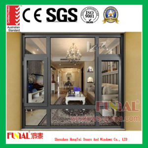 Customized Color Double Tempered Glass Aluminum Casement Window pictures & photos