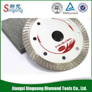 "4"" 6"" 7"" Vacuum Brazed Diamond Saw Blade with Flange pictures & photos"