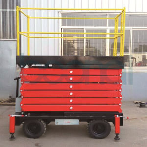 Mobile Aerial Work Platform Hydraulic Scissor Lift (9m) pictures & photos