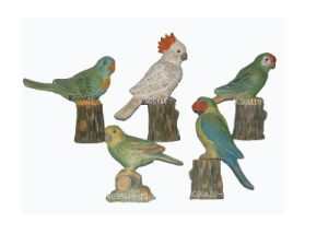 Wooden Carving Parrot Decoration (EF-1451)