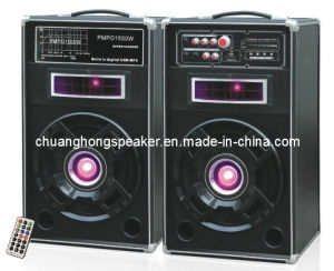 Active Professional Speaker with Woofer LED Lights (DJ-2837)
