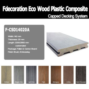 Factory Price White Capped WPC Flooring WPC Terrace Decking pictures & photos