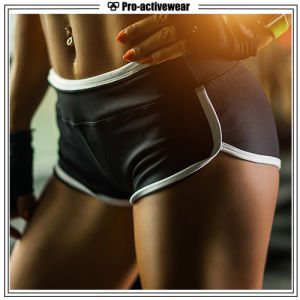 Custom Sublimation Spandex Women Fitness Wear Yoga Shorts with Pocket pictures & photos