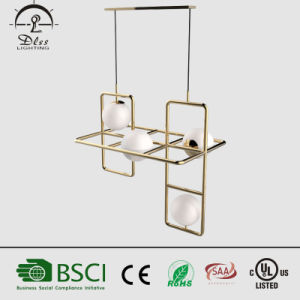 Latest Design Modern Gold Lustre Iron +Glass Pendant Light for Bar Dining Room Decoration pictures & photos
