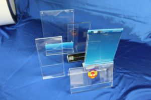 Customize Clear Acrylic Display Menu Stand pictures & photos