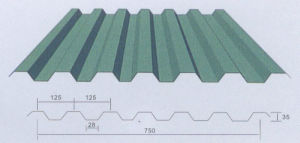 Beautiful Corrugated Steel Roofing Rockwool Panel for Steel Workshop pictures & photos