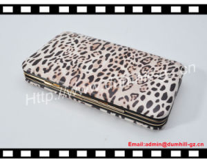 New Fashion Metal Frame Leopard Mobile Phone Case with Credit Card Holders pictures & photos