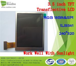 3.5 Inch 240*320 Outdoor Work Well with Sunlight TFT Transflective LCD Display pictures & photos