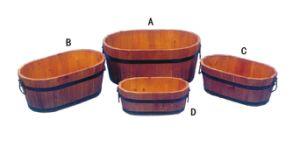Decorative Garden Wood Flower Pot Plant Holder Metal Planter pictures & photos