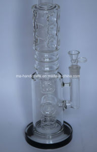 "18"" Ice Pinches Smoking Glass Water Pipes/Smoking Pipes with Matix Percs pictures & photos"