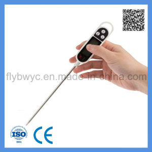 Digital Food Milk BBQ Cooking Thermometer Pen Shape with Stainless Steel Probe pictures & photos