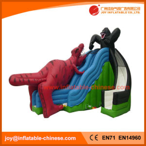 China Jurassic Inflatable Slide with Dinosaur and Gorilla (T4-602) pictures & photos