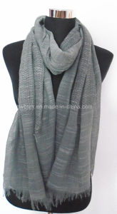 New Style Jacquard Cotton Stole / Scarf (HWBC356) pictures & photos