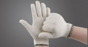 Cheap 10-Pin Cotton Yarn Protective Gloves for Work pictures & photos