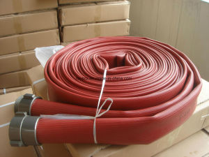 "250 Psi 2-1/2"" Single Jacket Durable Rubber Fire Hose pictures & photos"