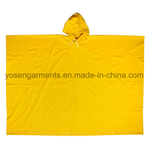 PVC Rainwear Raincoat Rainsuit Outdoor Workwear Rain Cloak Poncho (RWB08) pictures & photos
