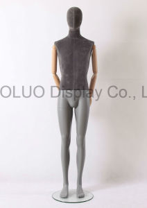 New Design Linen Wrapped Male Mannequin with Wooden Arms pictures & photos
